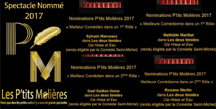 Une ancienne nominée au P'tits Molières 2017
