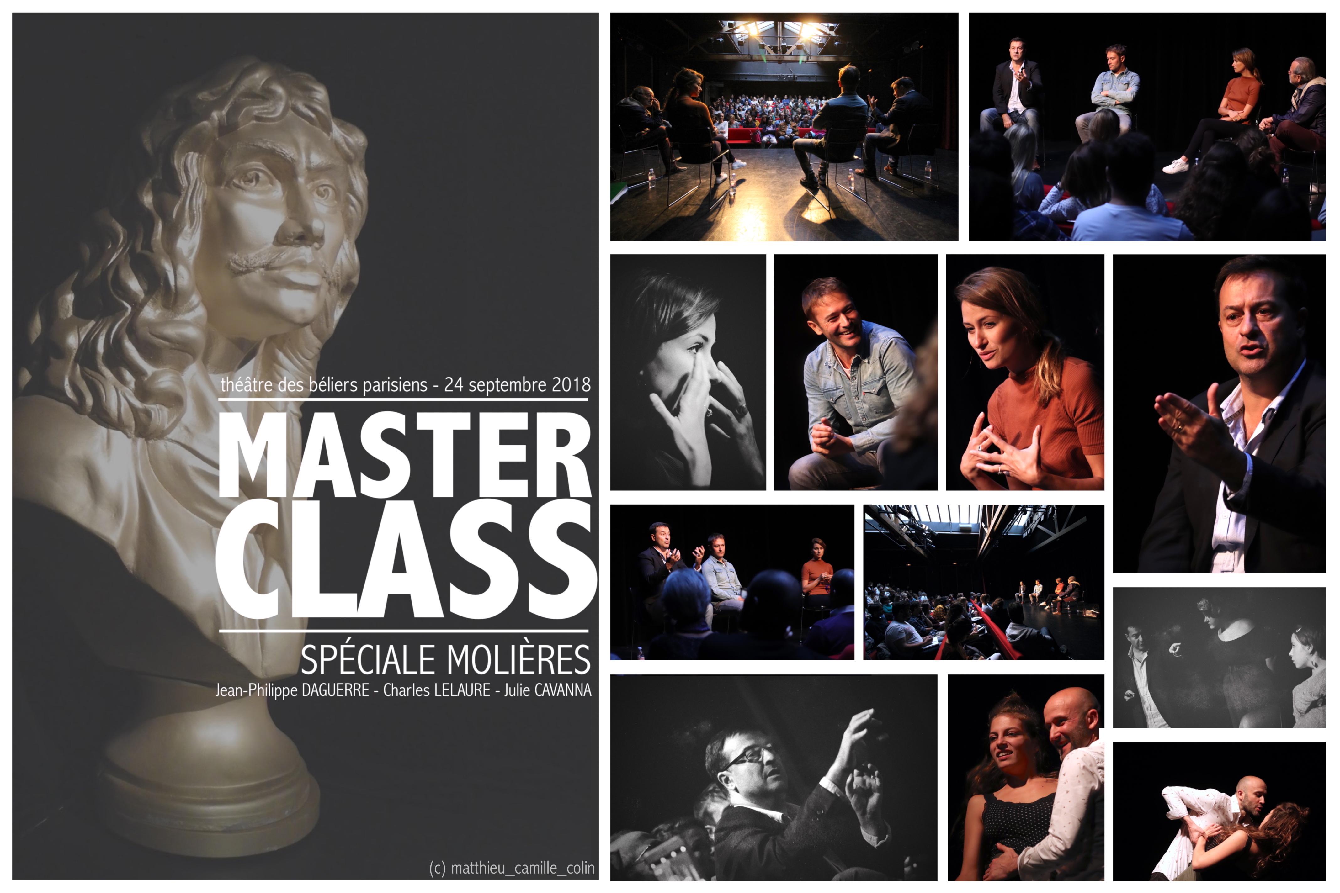 Master Class Spéciale Molières 2018