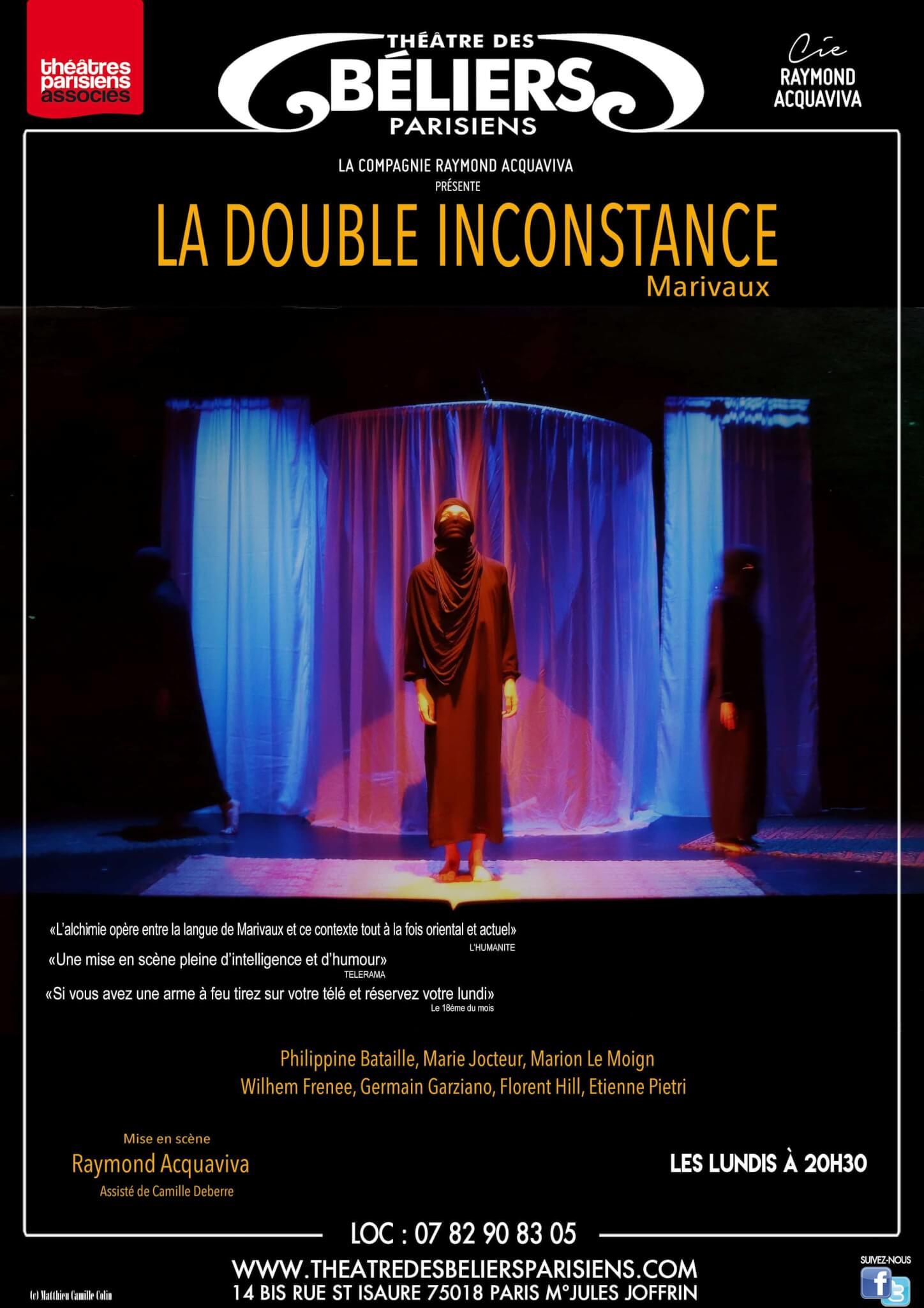 La Double Inconstance – Reprise à partir du 22 octobre 2018