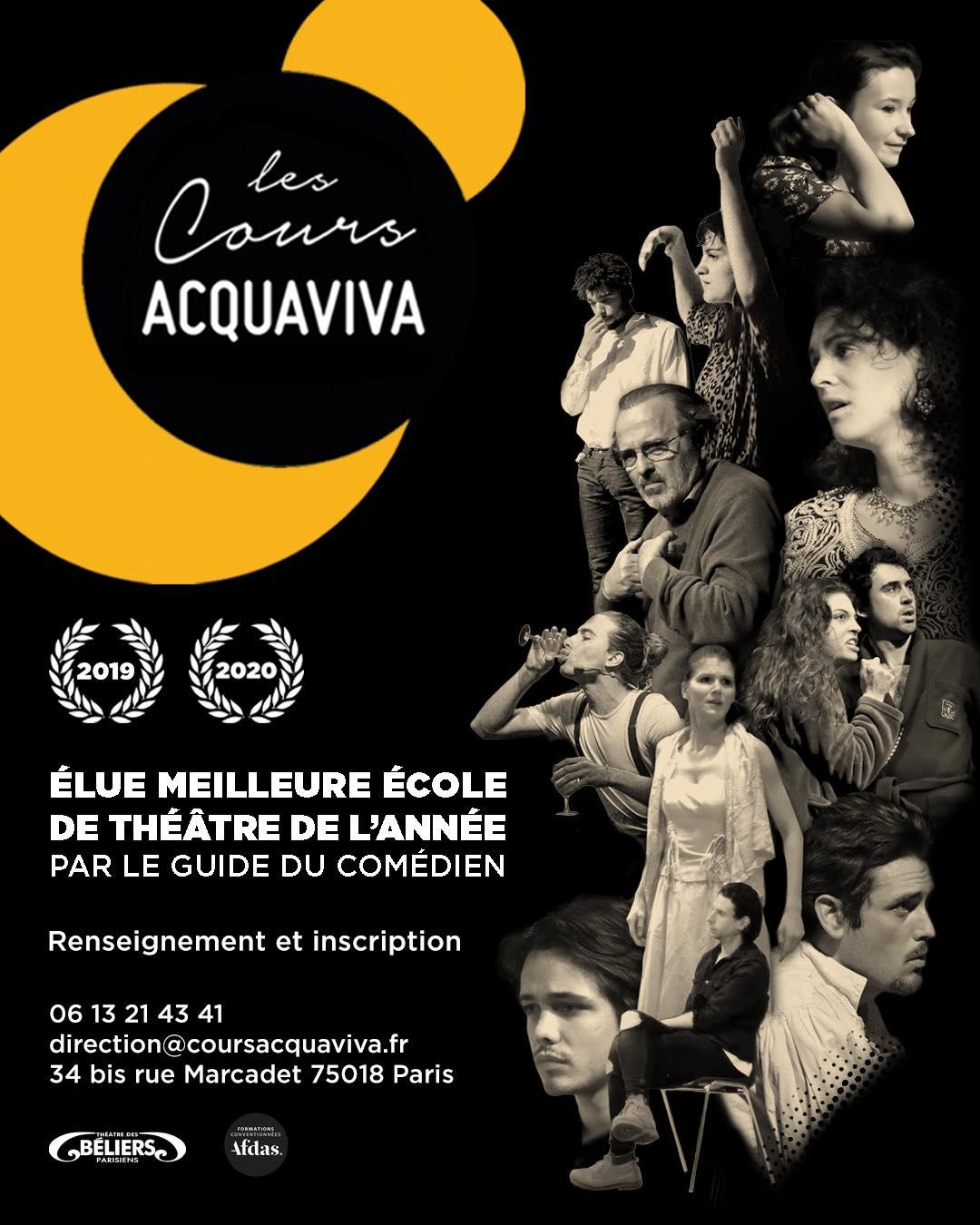 Actualité Auditions afin d'intégrer Les Cours Acquaviva pour la saison 2021/2022